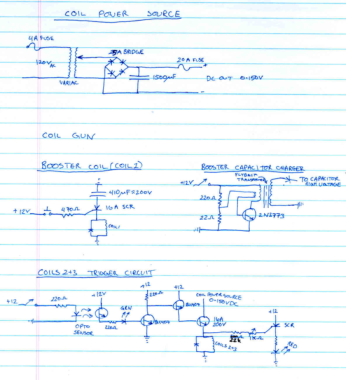 Circuit Diagram Of Capacitive Voltage Transformer Mtx 2300x Amp Wire Gregs 3stage Coil Gun Coilgun Page Electromagnetic Propulsion