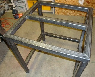Hereu0027s The Picture Of The Assembled Frame. Steel Plate Top