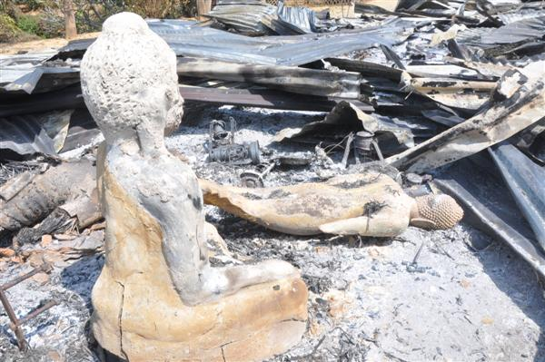 Muslim settlers destroyed Buddhist Temple