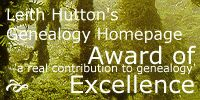 Leith Hutton's Genealogy Homepage Award of Excellence