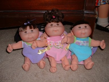 Cabbage Patch Singing Triplets