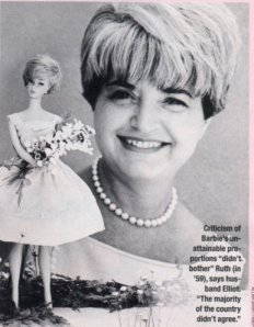 ruth handler a woman and her Get this from a library barbie and ruth : the story of the world's most famous doll and the woman who created her [robin gerber] -- the tragic and redeeming story of how one visionary woman, ruth handler, built the biggest toy company in the world and created a global icon.