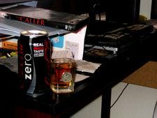 Coke Zero & a shot of rye