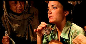 Marion Ravenwood in Raiders of the  Lost Ark courtesy www.boozemovies.com