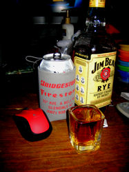 Whiskey, Diet Coke & a mouse