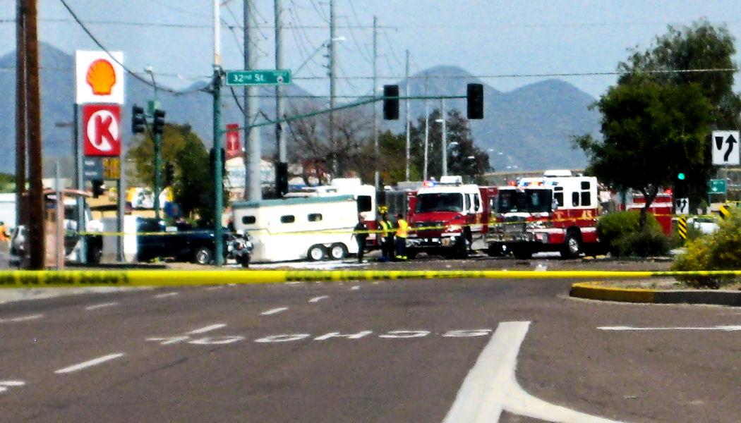 2 Phoenix fire-engines, 1 ambulance