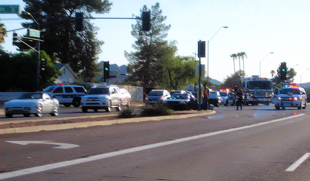 Accident photo #1, left to right street is name Cactus Road