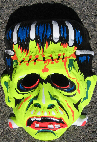 frankenstein halloween mask 1970s unknown