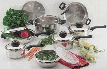 Surgical Stainless Steel Waterless Cookware - Click for Enlarged Photo