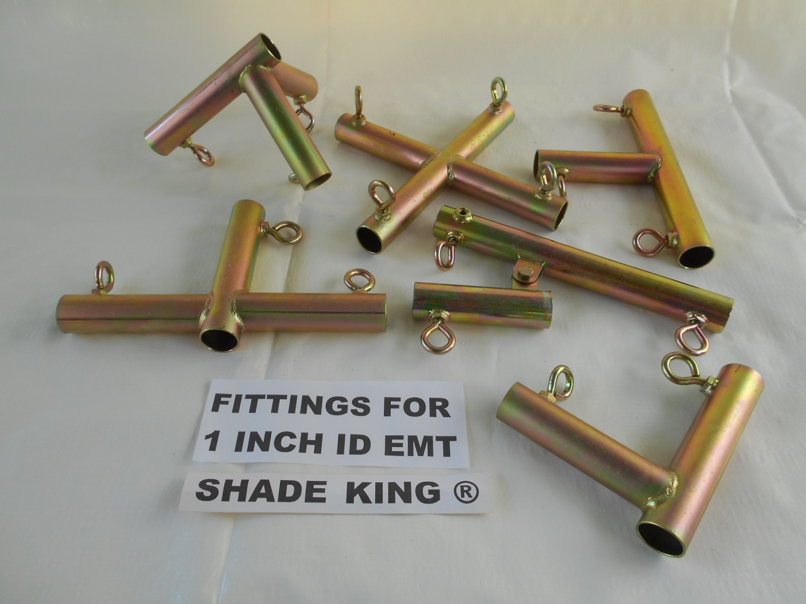 GO HERE FOR 1u00265/8 FITTINGS & PIPE TENT FITTINGSu003cBRu003eSHADE KING ®tm CANOPY FITTINGS