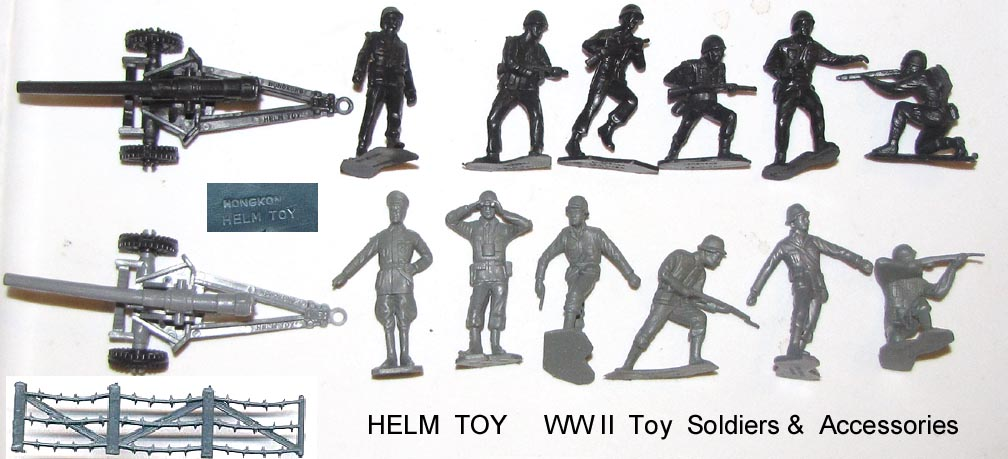 MARX TOYS Molded Lot Of 4 Military Plastic Soldiers 6 Inch Set Must See