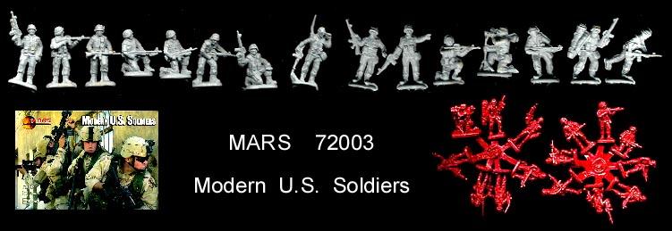 48 figures 1//72 MARS Figures # 72003 Modern US Soldiers