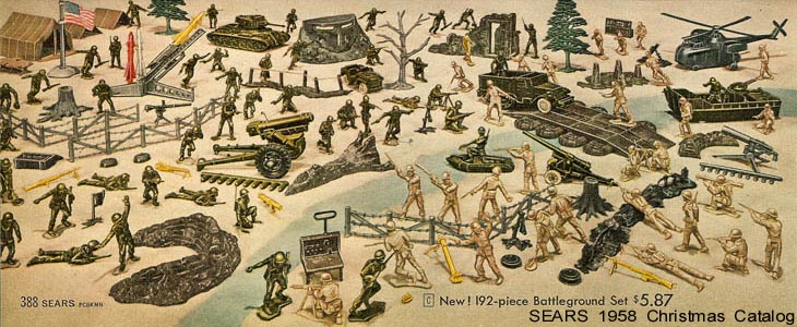 TOY SOLDIER HQ INC<P> MARX WWII TOY SOLDIERS, FIGURES AND ITEMS FOR SALE