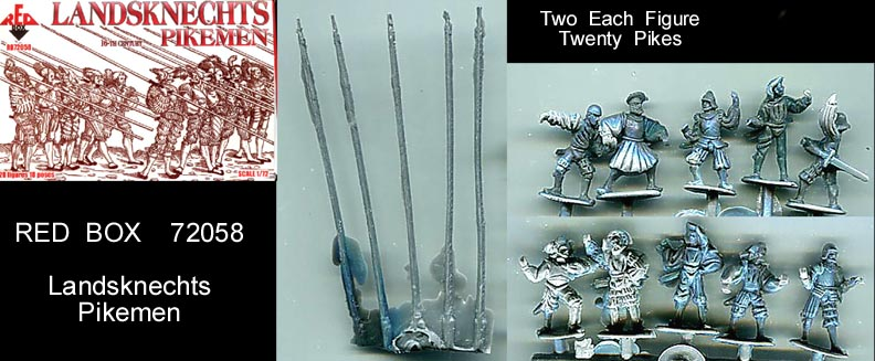 Landsknechts Sword//Arquebus Red Box 1:72