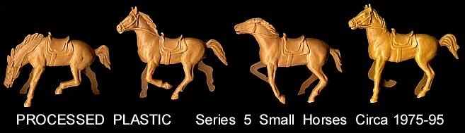 5 Western Horse Bucking 60mm  White Plastic Processed Plastic Ser