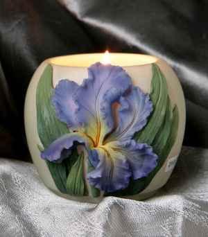Bearded Iris Votive Candle Holder