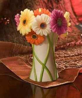 Gerbera Daisy Bouquet Tea Lite Candle Holder