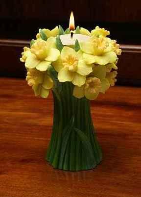 Jonquil Bouquet Tea Lite Candle Holder