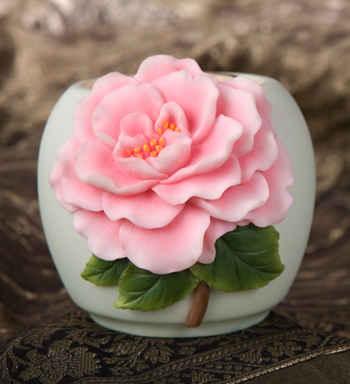 Camellia Votive Candle Holder