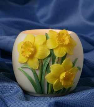Jonquil Daffodil Votive Candle Holder