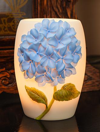 Blue Hydrangea Night Lamp