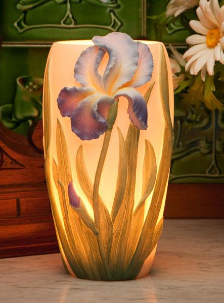 Bearded Iris Accent Lamp