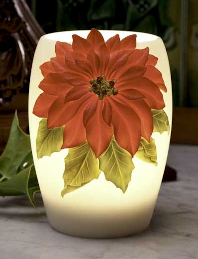 Red Poinsettia Night Lamp