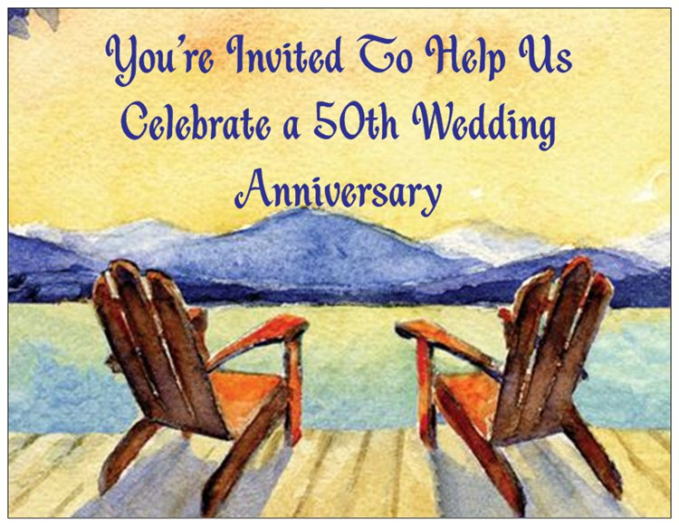 Anniversary Invitations Available for All Years
