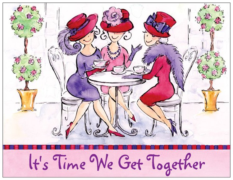 Red Hat Ladies Party Invitation