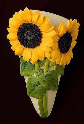 Sunflower Wall Vase/Wall Pocket