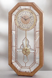 Stylized Fleur di Lis Bevel Center Clock