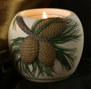 Pinecone Votive Candle Holder