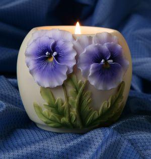 Pansy Votive Candle Holder