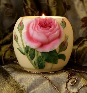 English Rose Votive Candle Holder