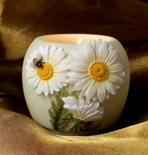 Daisy and Bee Votive Candle Holder