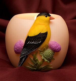Goldfinch Votive Candle Holder