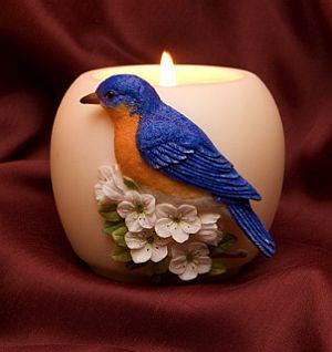Bluebird Votive Candle Holder