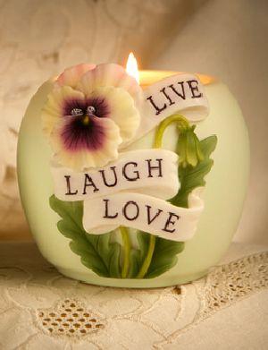 Live Laugh Love Votive Candle Holder