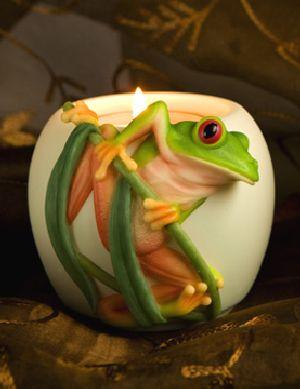 Tree Frog Votive Candle