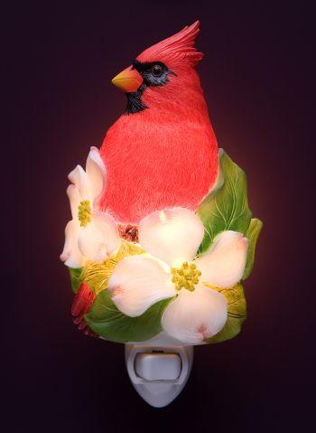 Cardinal with Dogwood Night Light