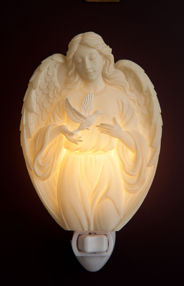 Angel with Dove Night Light