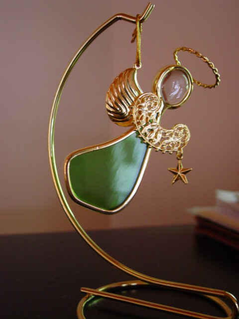 Angel Ornament Peridot Green for August