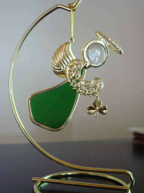 Angel Ornament Emerald Green for May