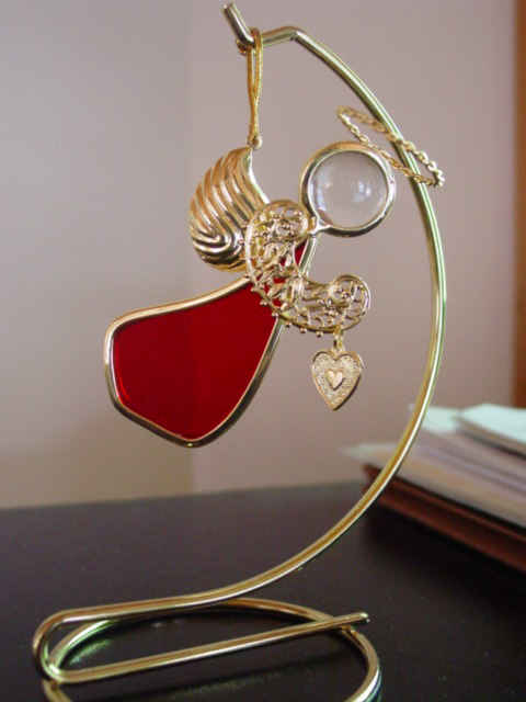Angel Ornament Ruby for January or July