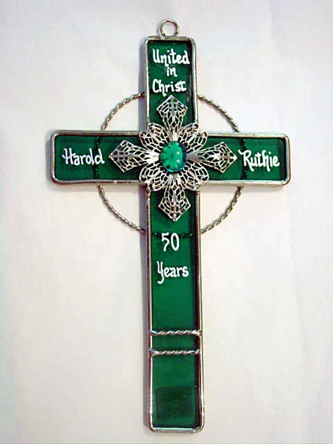 Personalized Filigree Cross - ALL Crosses can be Personalized with Names and Date and Your Message