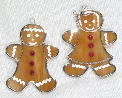 Gingerbread Couple Ornaments or Night Light