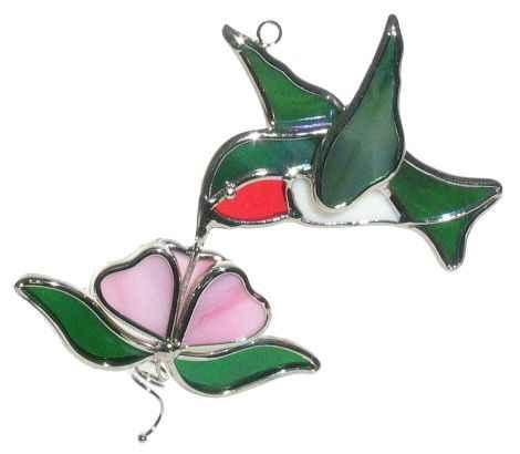 Hummingbird with Flower Suncatcher