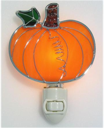 Stained Glass Pumpkin Night light