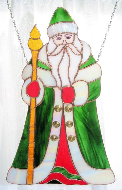 Large Santa in Green Coat