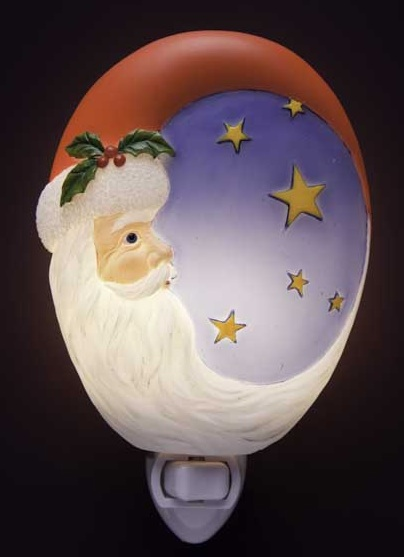 Santa Moon and Stars Night Light